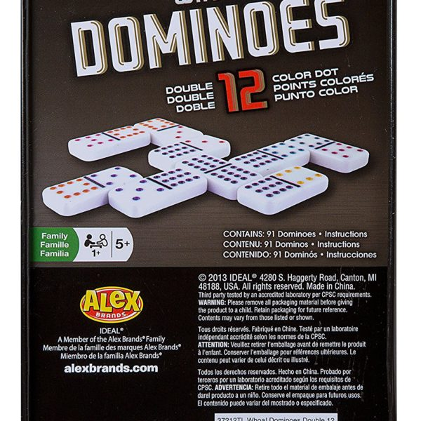 Double 12 Dominoes Set With Color Dot Gamedicechip