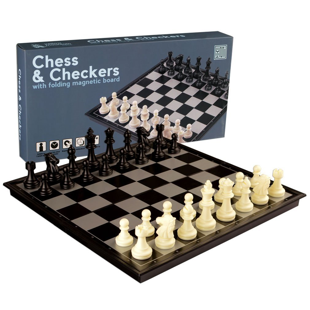 In 1 Travel Magnetic Chess And Checkers Set